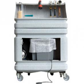 Machine de nettoyage à l'eau des outils du peintre
