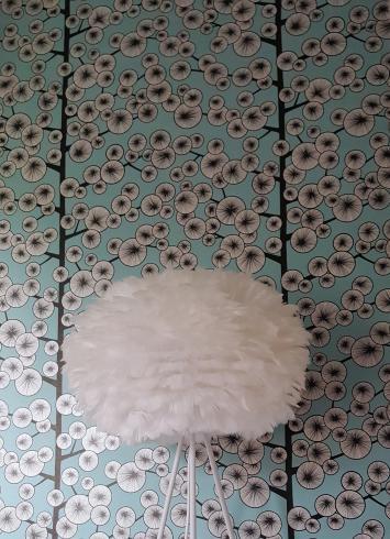 Murs d'une chambre d'adolescente habiller en Miss Print